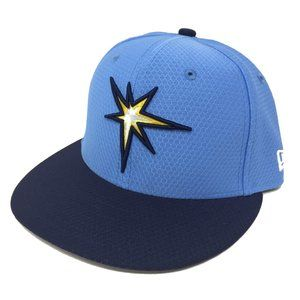 Tampa Bay Rays New Era Fitted 59FIFTY Hat Cap Blue